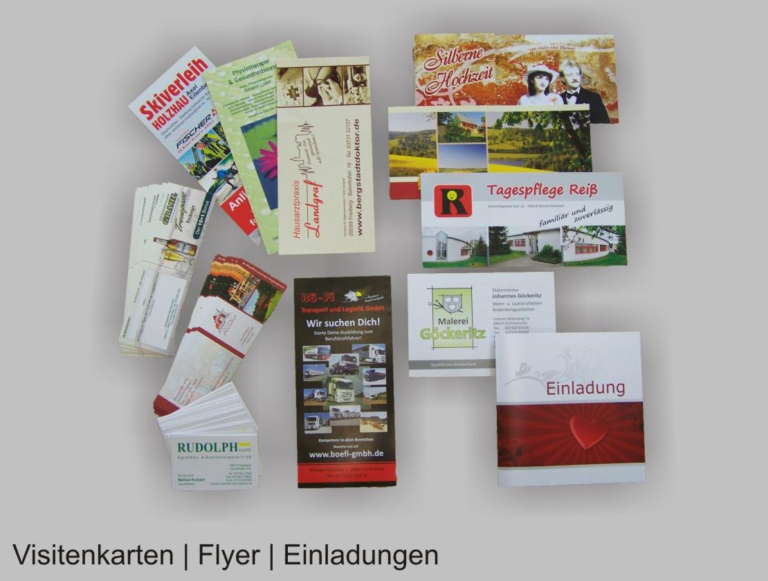 Visitenkarten Flyer Plakate Köhlerwerbung Grafik Druck